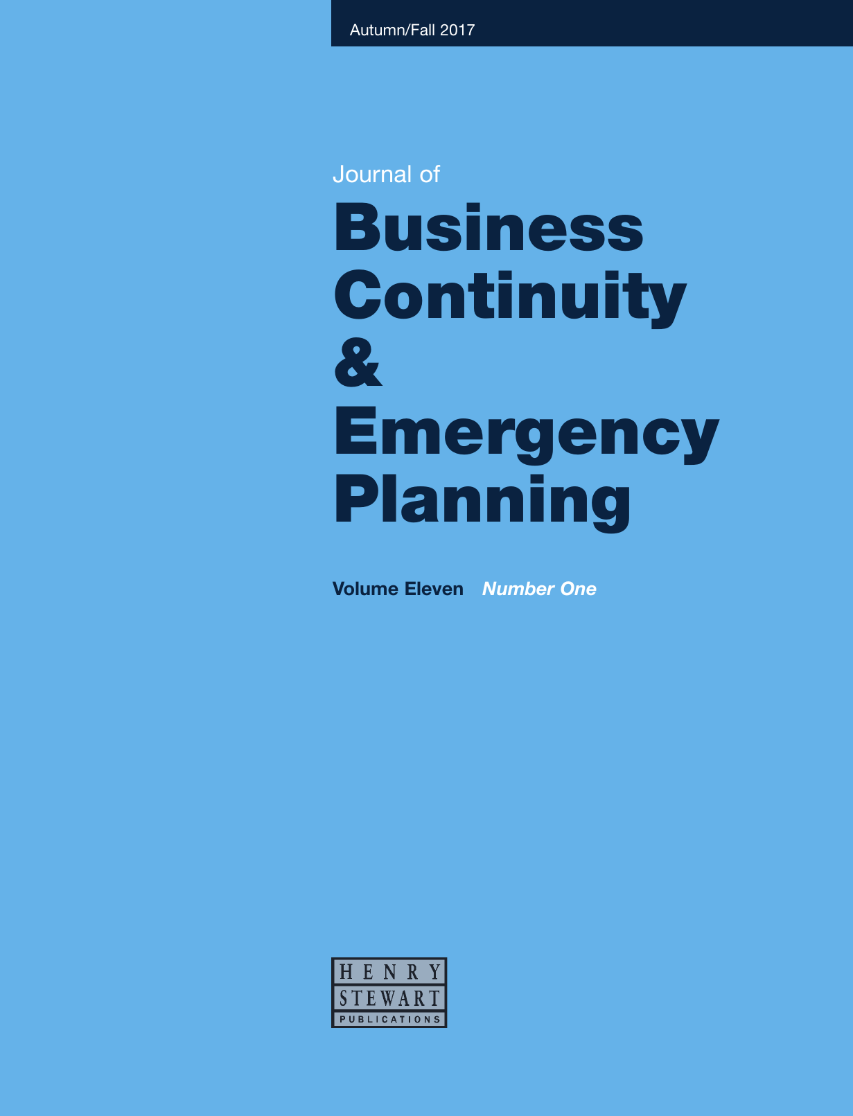 Journal of Business Continuity & Emergency Planning Logo